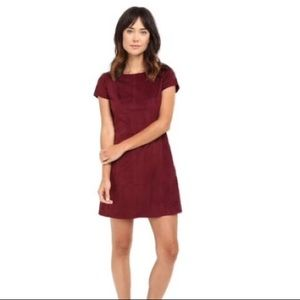 Bobeau faux suede dress Small